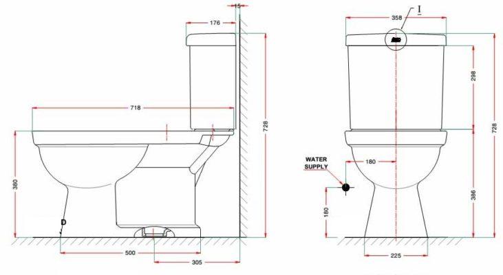 bản vẽ kỹ thuật American Standard VF-2013S