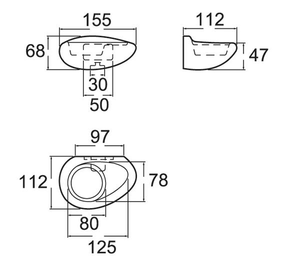 Bản vẽ kỹ thuật kệ đựng ly American Standard VF-9480