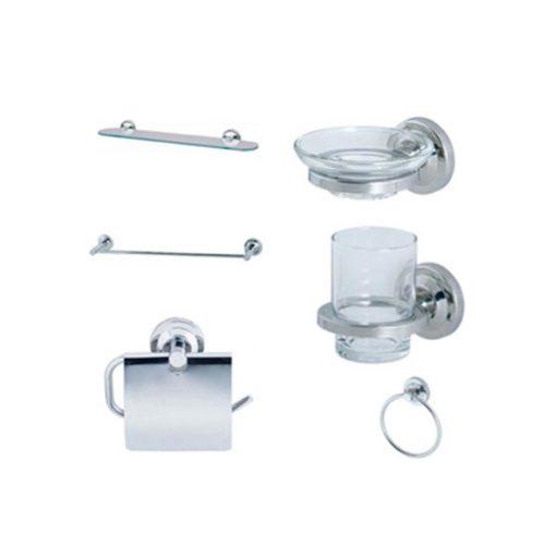 Bộ phụ kiện phòng tắm Caesar Q771 6 món inox
