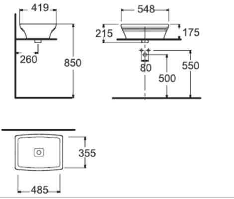 Bản vẽ kỹ thuật American Standard WP-F616