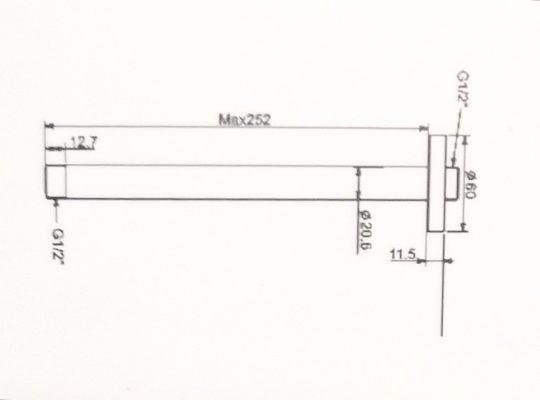 FFAS9908-bản-vẽ-thanh-nối-đầu-sen-Easyset-american-standard