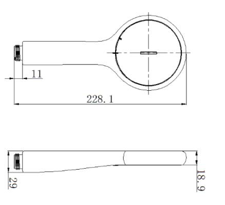 FFASS505 bản vẽ kỹ thuật tay sen Genie American standard