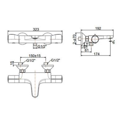 wf-4949 bản vẽ vòi sen tắm nhiệt độ american standard
