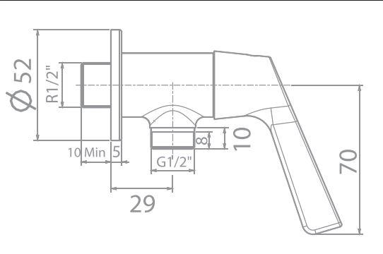 wf-t604 bản vẽ kỹ thuật vòi sen lạnh american standard