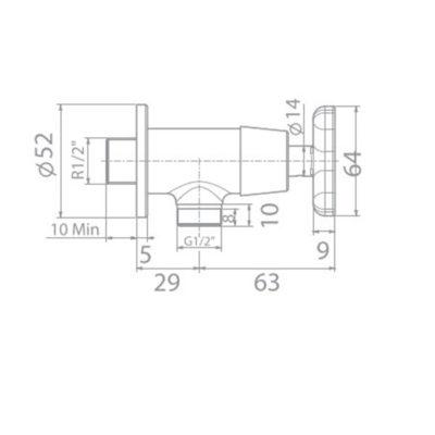 wf-t704 bản vẽ kỹ thuật vòi sen tắm lạnh american standard