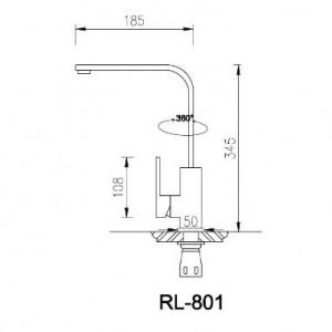 Bản Vẽ Kỹ Thuật Vòi Chậu Rửa Bát Roslerer RL-801