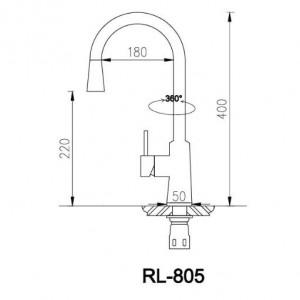 Bản Vẽ Kỹ Thuật Vòi Chậu Rửa Bát Roslerer RL-805
