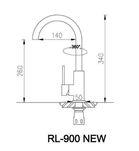 Bản Vẽ Kỹ Thuật Vòi Chậu Rửa Bát Roslerer RL-900
