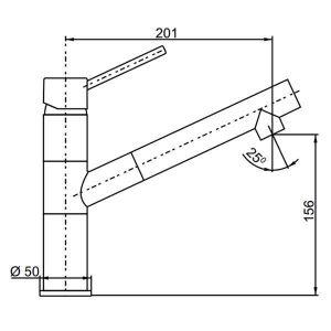 Bản vẽ vòi chậu rửa bát Hafele HADRIAN HT-C156 569.15.211