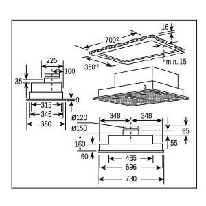 Bản Vẽ Kỹ Thuật Máy Hút Mùi Bosch DHL755B-2