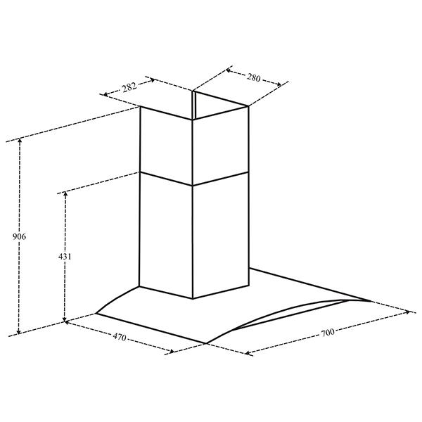 Bản Vẽ Kỹ Thuật Máy Hút Mùi Canzy CZ 3670