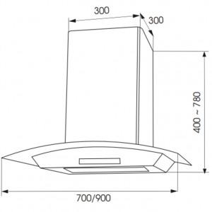 Bản Vẽ Kỹ Thuật Máy Hút Mùi Faster SMART LED-70