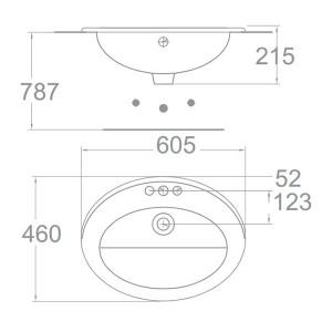 Chậu Rửa Lavabo Đặt Bàn American Standard 0477-WT Dòng Ceros