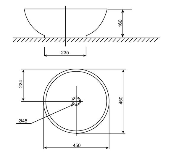 Chậu Rửa Lavabo Đặt Bàn American Standard WP-F648 Dòng IDS Dynamic