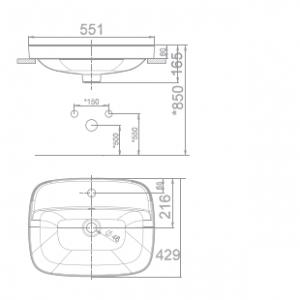 Chậu Rửa Lavabo Đặt Bàn American Standard VF-0420 Dòng Signature