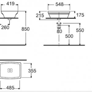 Chậu Rửa Lavabo Đặt Bàn American Standard WP-F616 Dòng Nobile
