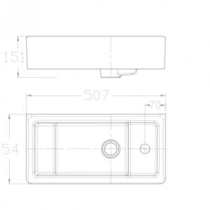 Chậu Rửa Lavabo Đặt Bàn American Standard WP-F667 Dòng Side