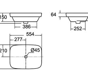 Chậu Rửa Lavabo Đặt Bàn American Standard WP-F646 Dòng Cygnet