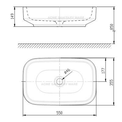 Chậu Rửa Lavabo Đặt Bàn American Standard WP-F626 Dòng IDS Clear