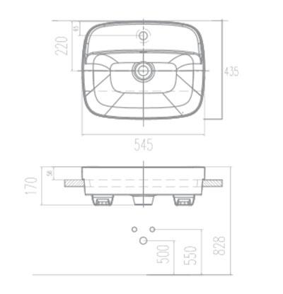 Chậu Rửa Mặt Lavabo American Standard VF-0320 Âm Nửa Bàn Dòng Signature