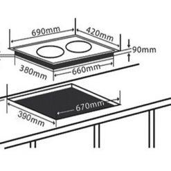 Bảng thông số kỹ thuật bếp từ Chef's ED-DIH2000A