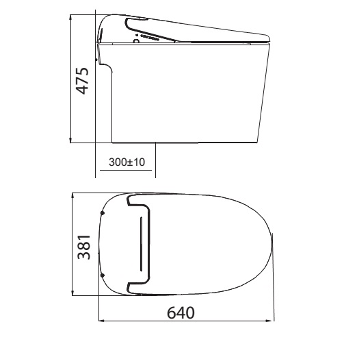 Bồn Cầu Thông Minh Viglacera V-SMART V97.WB