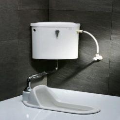 Bồn cầu xổm + két nước xả gạt tay CAESAR CT1250