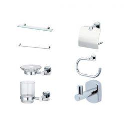 Bộ phụ kiện phòng tắm Caesar Q7300-A7 7 món inox