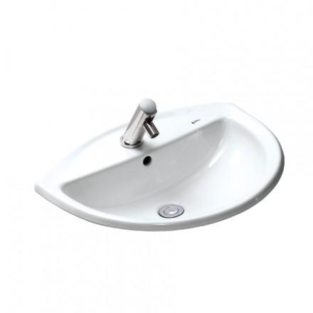 Chậu Rửa Lavabo Inax L-2396V Âm Bàn Dương Vành