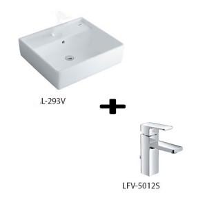 Chậu Rửa Lavabo Đặt Bàn Inax L-293V + Vòi Rửa LFV-5012S