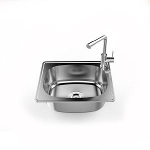 Chậu rửa bát inox Sơn Hà SHN1H0B-447 - 1 Hố