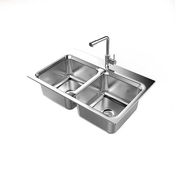 Chậu rửa Bát Inox Sơn Hà A79 - 2 Hố Cân