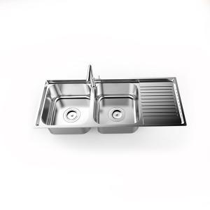 Chậu Rửa Bát Inox 304 Sơn Hà S105D/S105X - 2 Hố 1 Bàn