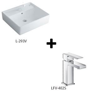 Chậu Rửa Lavabo Đặt Bàn Inax L-293V + Vòi Rửa LFV-402S