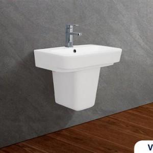 Chậu rửa treo tường Viglacera V50 kèm chân