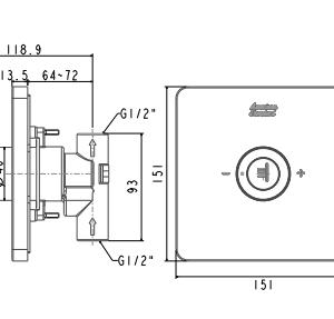 Nút Điều Chỉnh Cho Thân Vòi Sen American Standard FFAS0927 EasySET