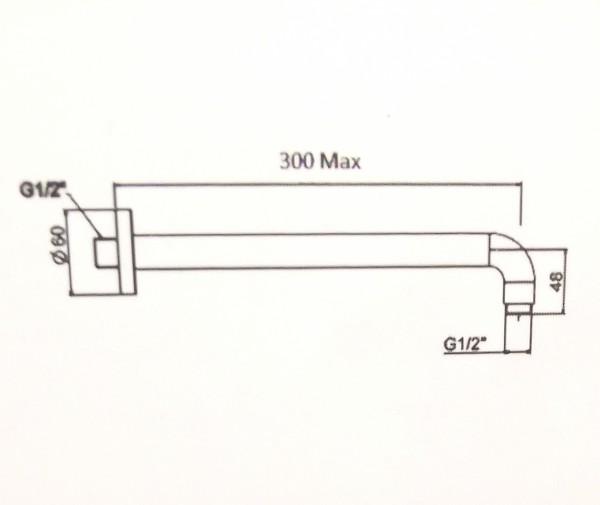 Thanh Nối Đầu Sen American Standard FFAS9909 EasySET