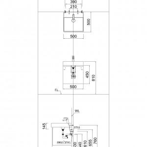 Tủ đặt chậu rửa mặt lavabo Caesar EH051V treo tường