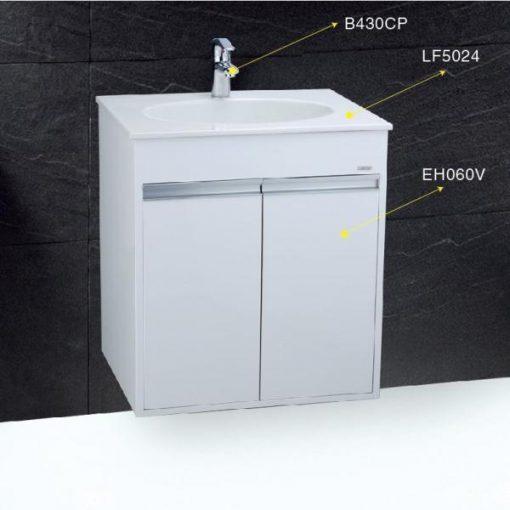 Tủ đặt chậu rửa mặt lavabo Caesar EH060V treo tường