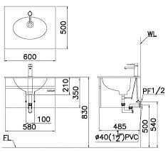 Tủ đặt chậu rửa mặt lavabo Caesar EH660V treo tường