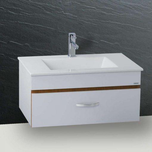 Tủ đặt chậu rửa mặt lavabo Caesar EH675V treo tường