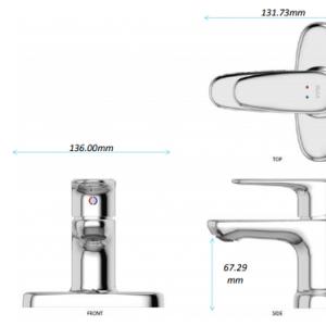 Vòi Chậu Rửa Mặt Lavabo Inax LFV-1111S Nóng Lạnh