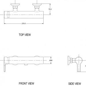 Vòi Sen Tắm American Standard WF-3912 Nóng Lạnh