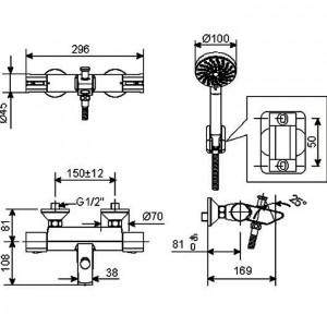 Vòi Sen Tắm Nhiệt Độ American Standard WF-4946