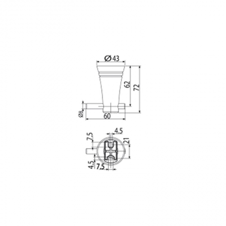 Móc Áo American Standard WF-6581 Dòng Seva