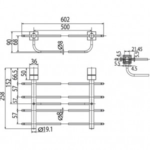 Kệ Để Khăn American Standard WF-6588 Dòng Seva