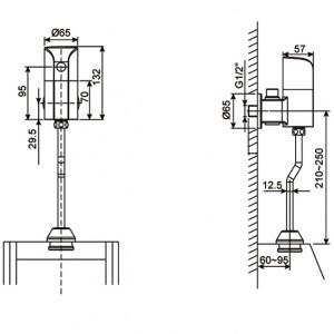 Van Xả Tiểu Cảm Ứng American Standard WF-8834 Dùng Điện