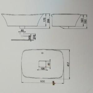 Chậu Rửa Lavabo Đặt Bàn American Standard WP-F602 Dòng La Moda