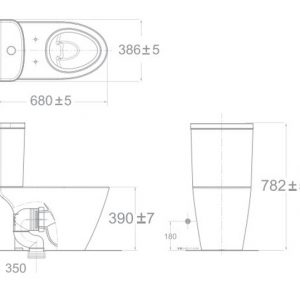 Bồn Cầu Hai Khối American Standard 2407-WT Dòng Codie Compact
