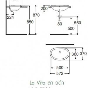 Chậu Rửa Lavabo Đặt Bàn American Standard WP-F509 Dòng La Vita